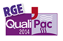 logo certification RGE QualiPac 2014